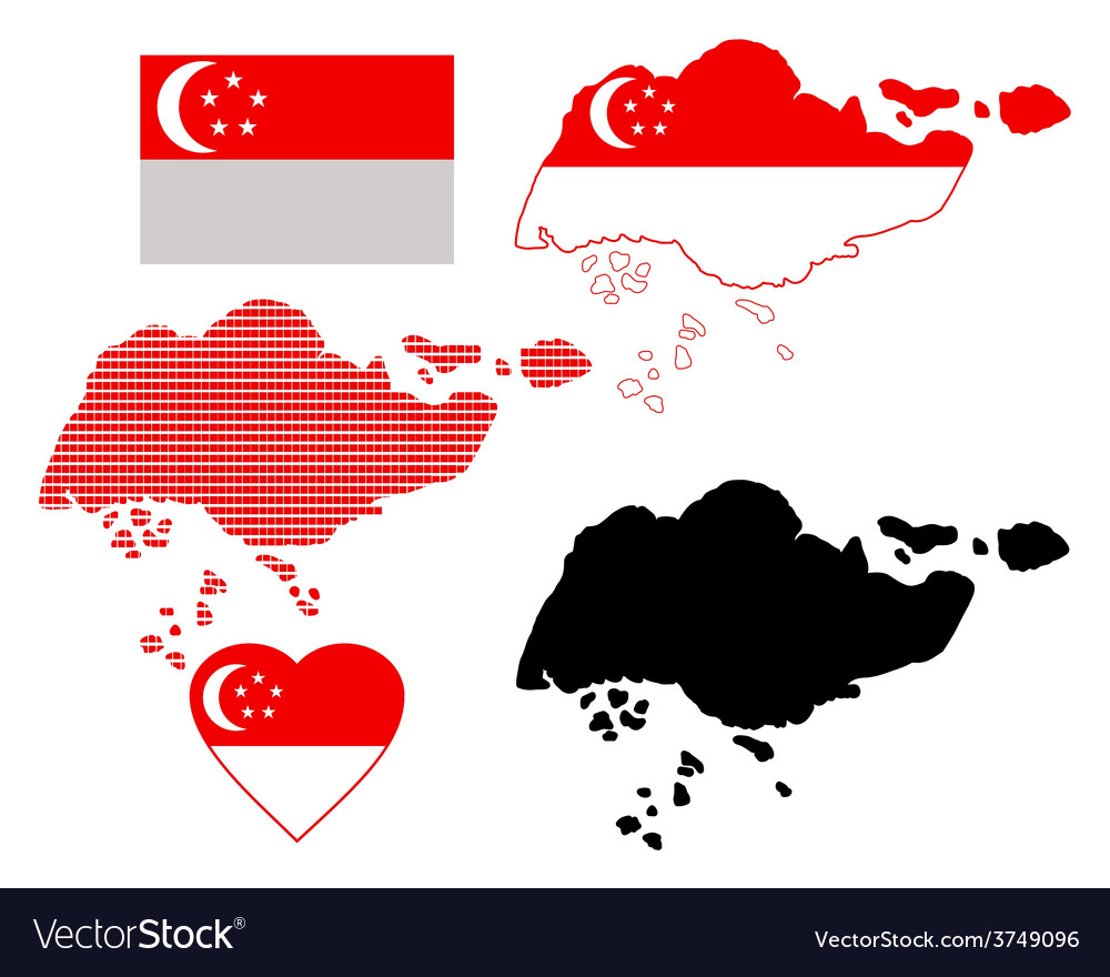 Map of singapore vector | Price: 1 Credit (USD $1)