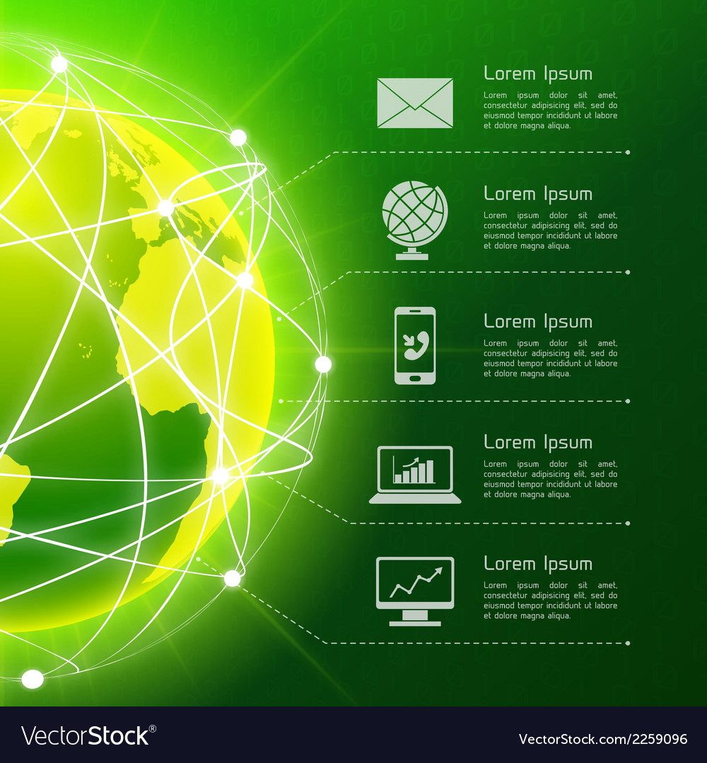 Network green background vector | Price: 1 Credit (USD $1)