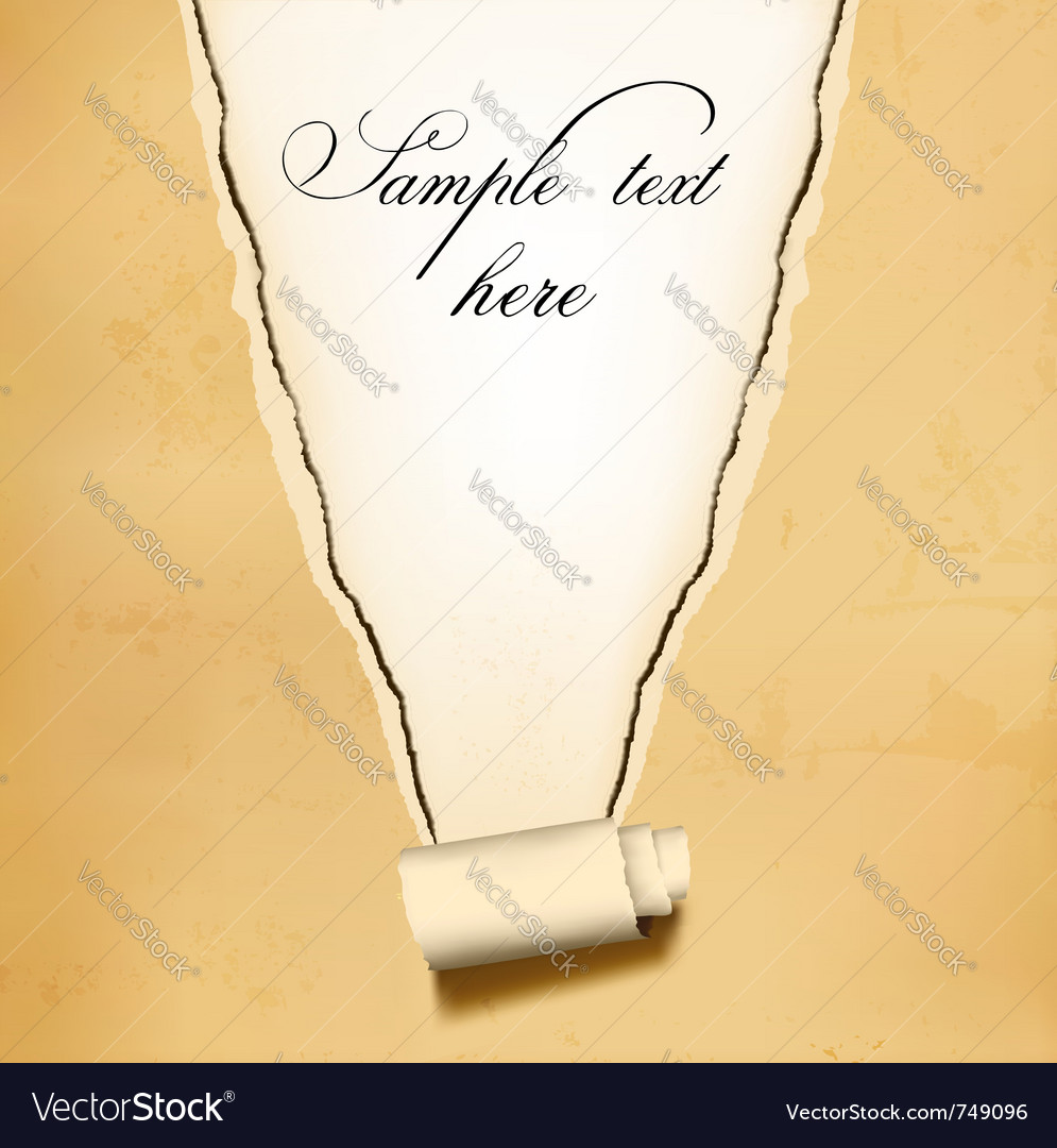 Old ripped paper background vector | Price: 1 Credit (USD $1)