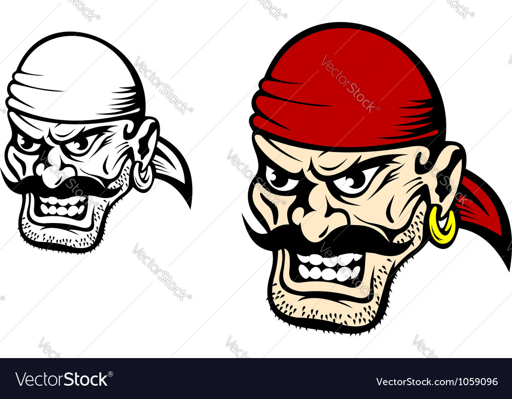 Pirate captain cartoon vector | Price: 1 Credit (USD $1)