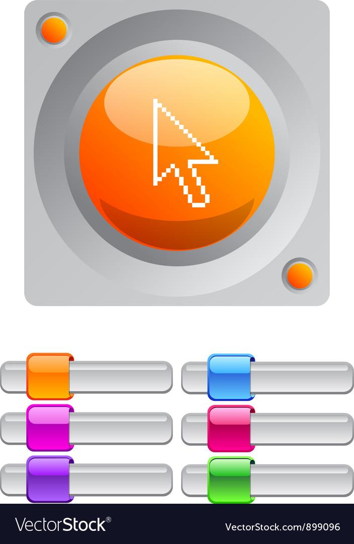 Pixel arrow color round button vector | Price: 1 Credit (USD $1)