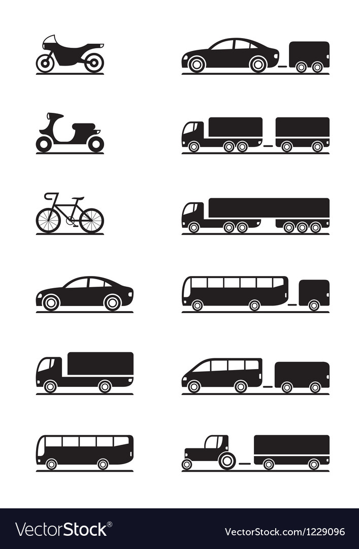 Road vehicles icon set vector | Price: 1 Credit (USD $1)