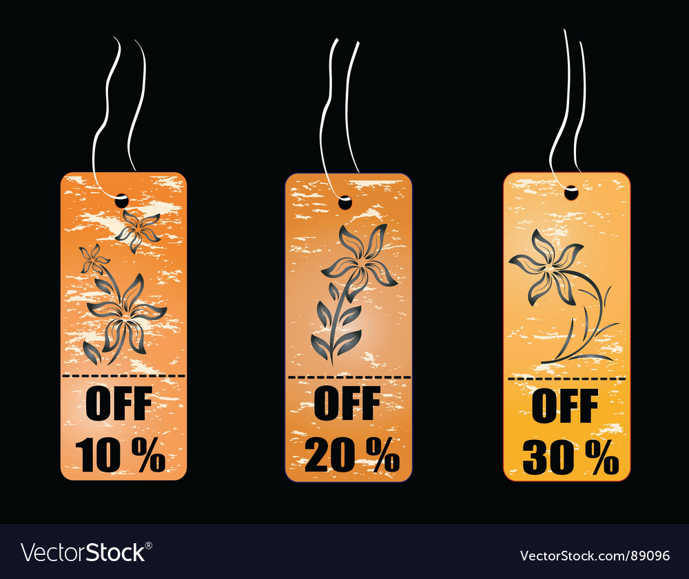 Shopping concept tag vector | Price: 1 Credit (USD $1)