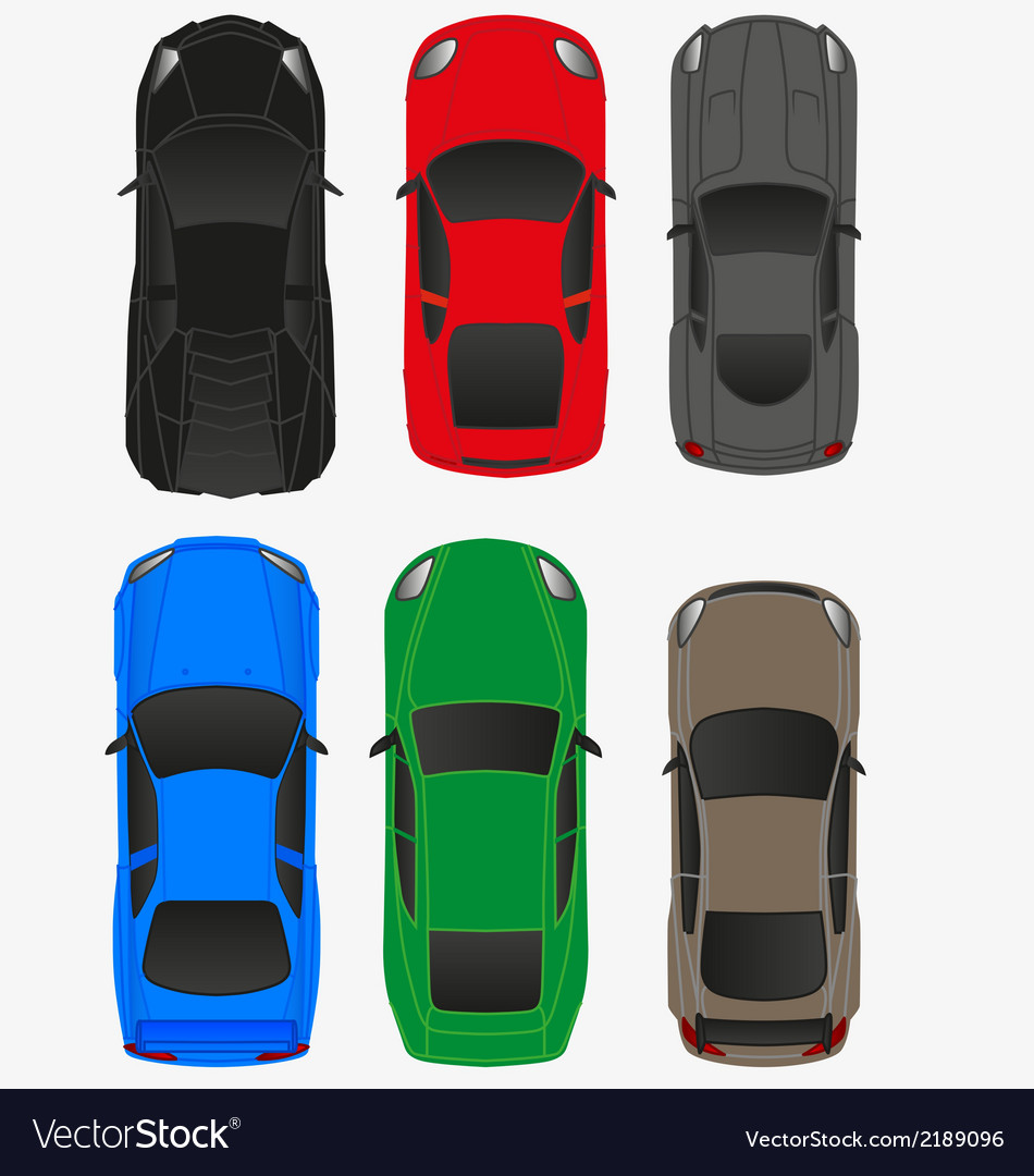 Top car view vol2 vector | Price: 1 Credit (USD $1)