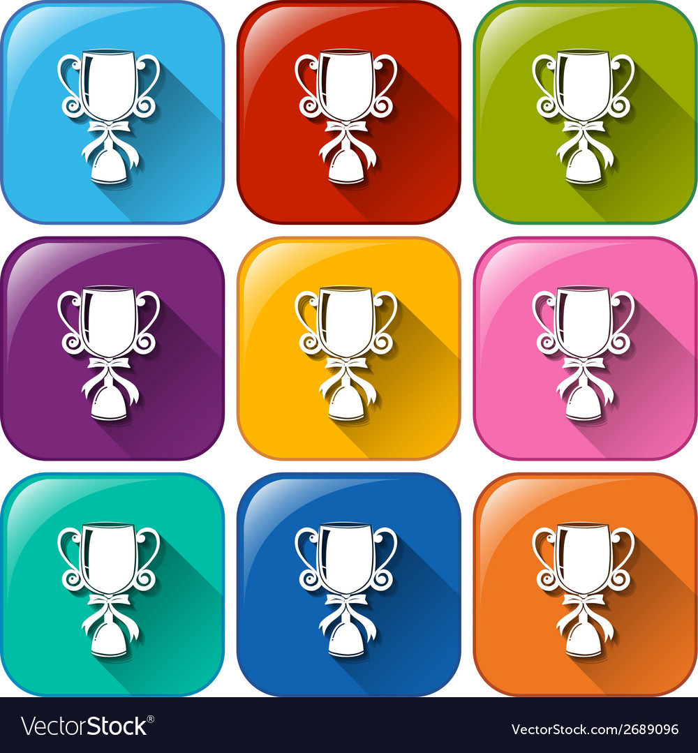 Trophy icons vector | Price: 1 Credit (USD $1)