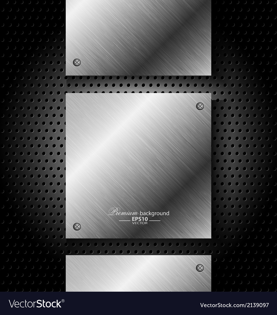 Abstract black metal technology background vector | Price: 1 Credit (USD $1)