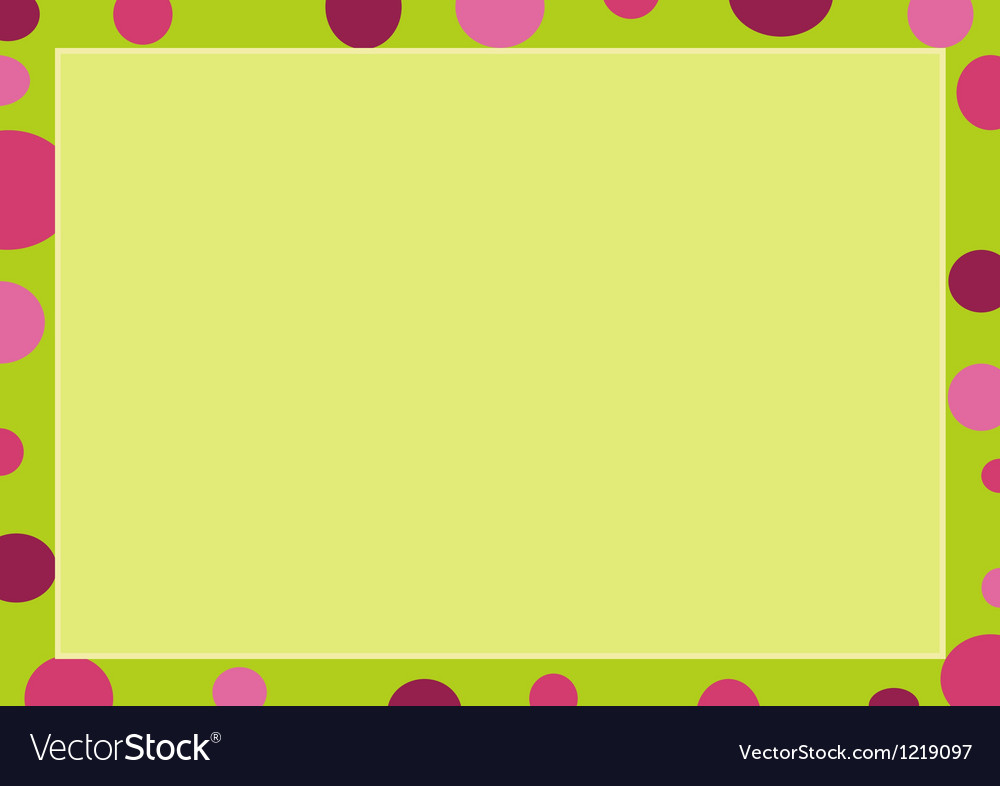 An abstract colorful circle on green frame vector | Price: 1 Credit (USD $1)