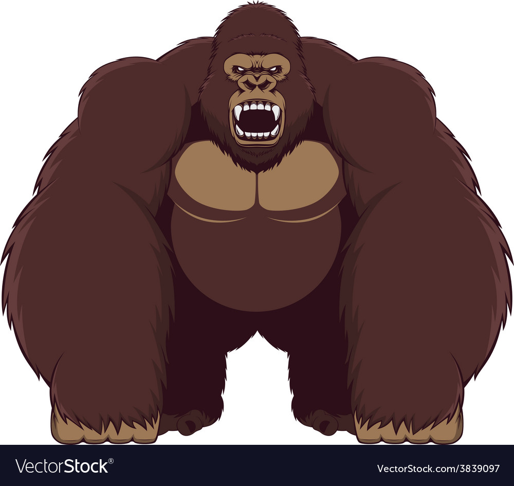 Angry gorilla vector | Price: 3 Credit (USD $3)