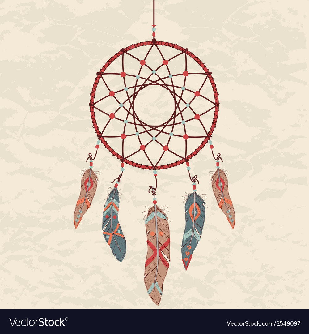 Colorful of dream catcher vector | Price: 1 Credit (USD $1)