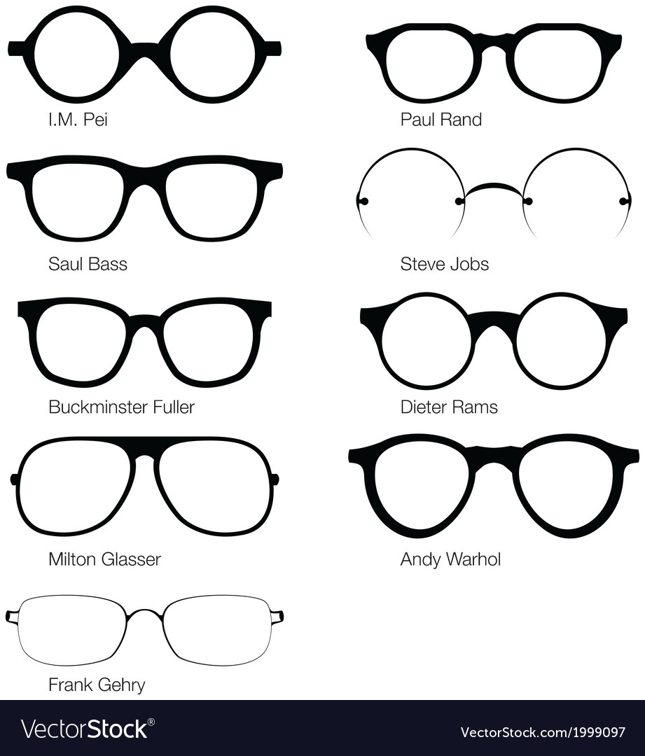 Eyeglasses of designers vector | Price: 1 Credit (USD $1)