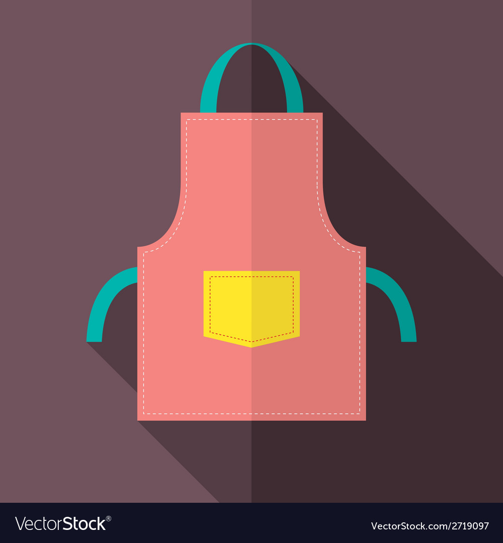 Flat design apron vector | Price: 1 Credit (USD $1)