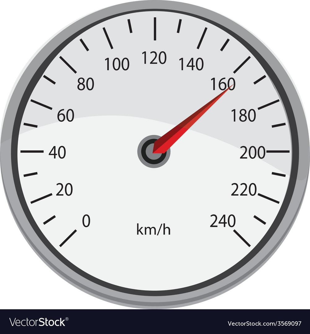 Grey speedometer vector | Price: 1 Credit (USD $1)