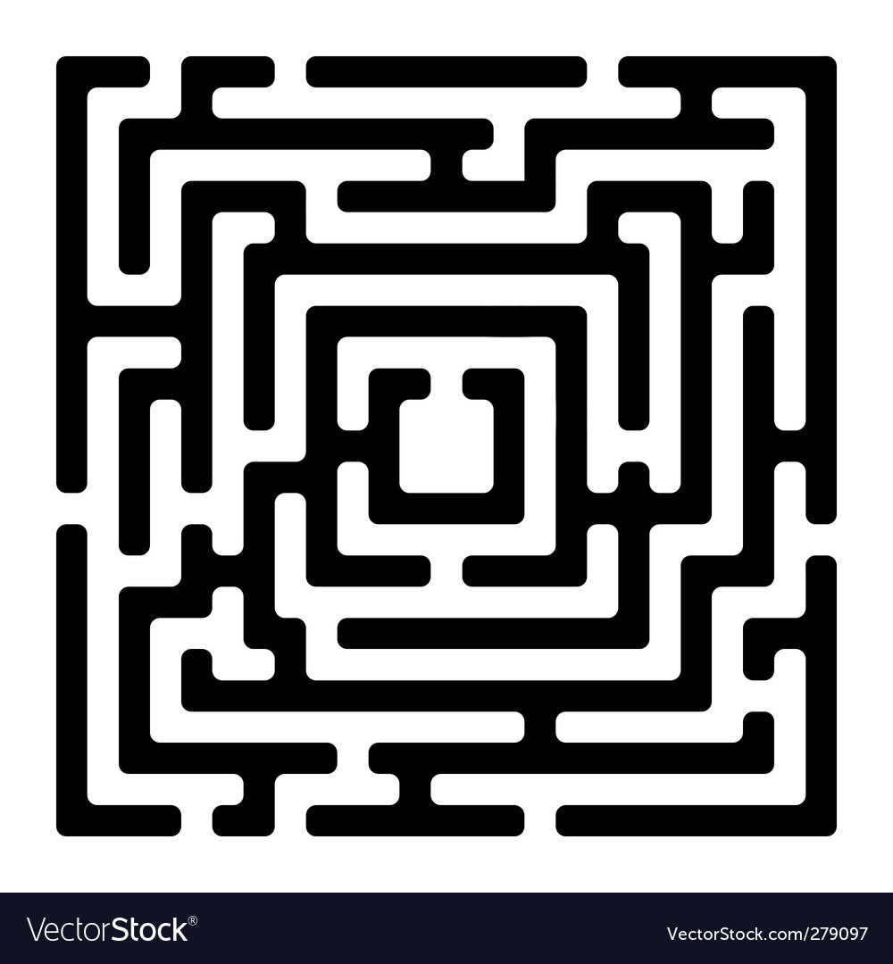 Rectangle maze izolated on white vector | Price: 1 Credit (USD $1)
