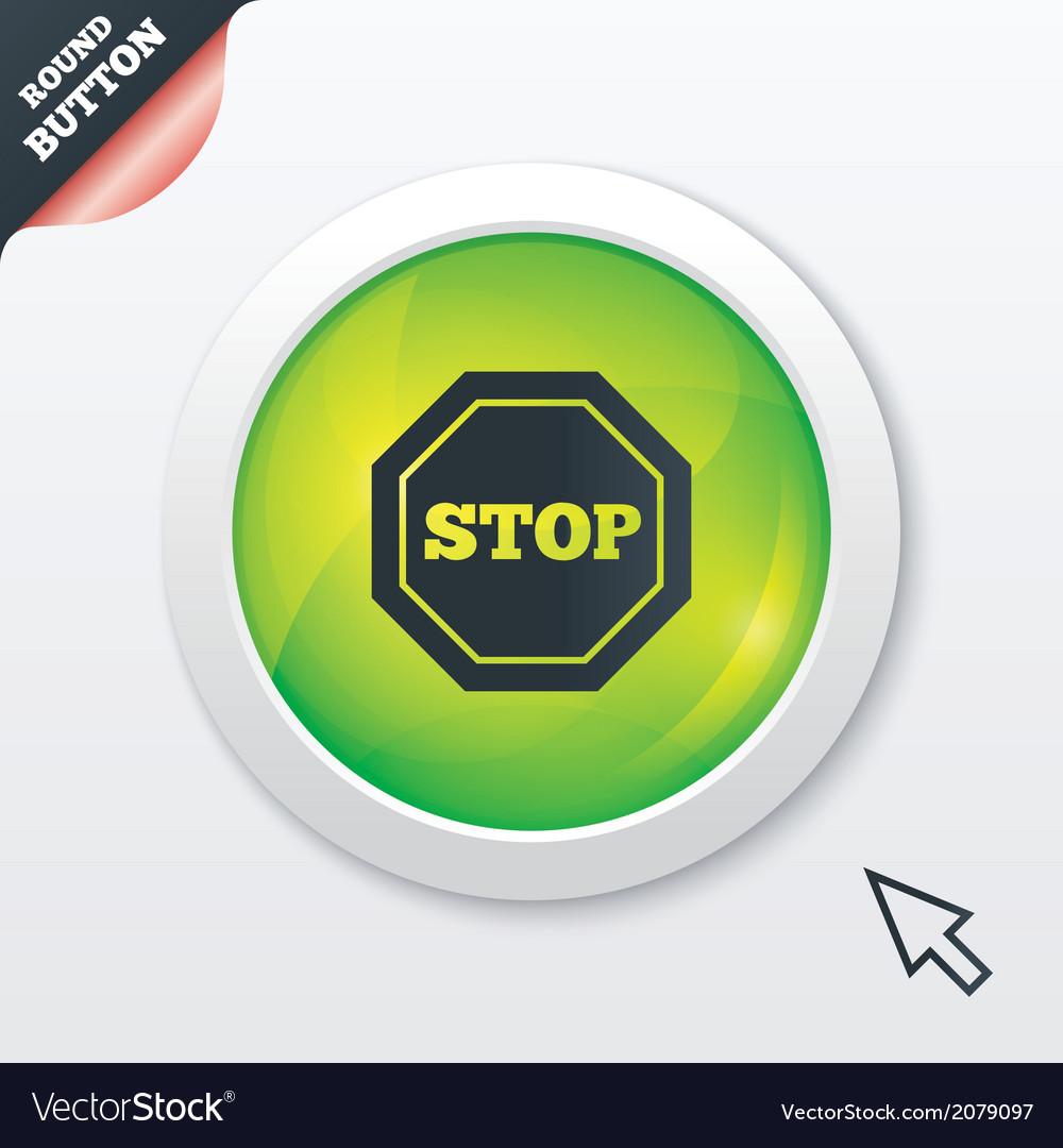 Traffic stop sign icon caution symbol vector | Price: 1 Credit (USD $1)