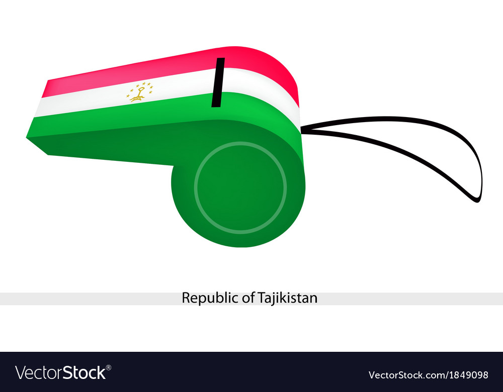 A whistle of the republic of tajikistan vector | Price: 1 Credit (USD $1)