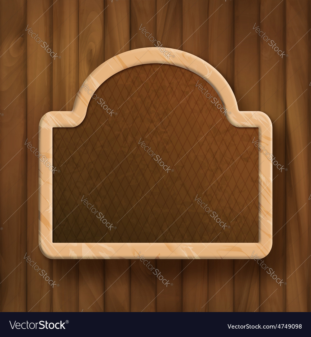 Board frame on wood wall vector   Price: 1 Credit (USD $1)