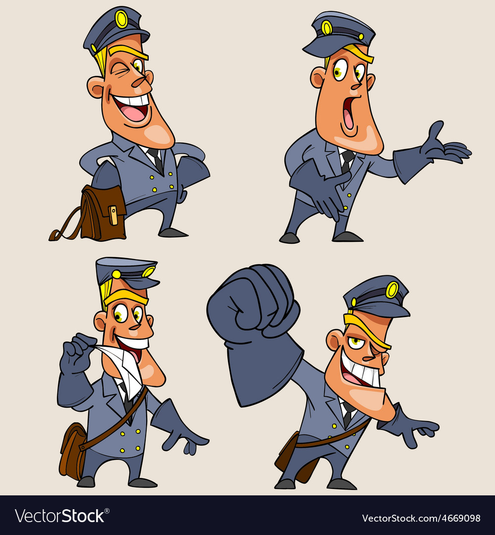 Cartoon character postman vector | Price: 3 Credit (USD $3)