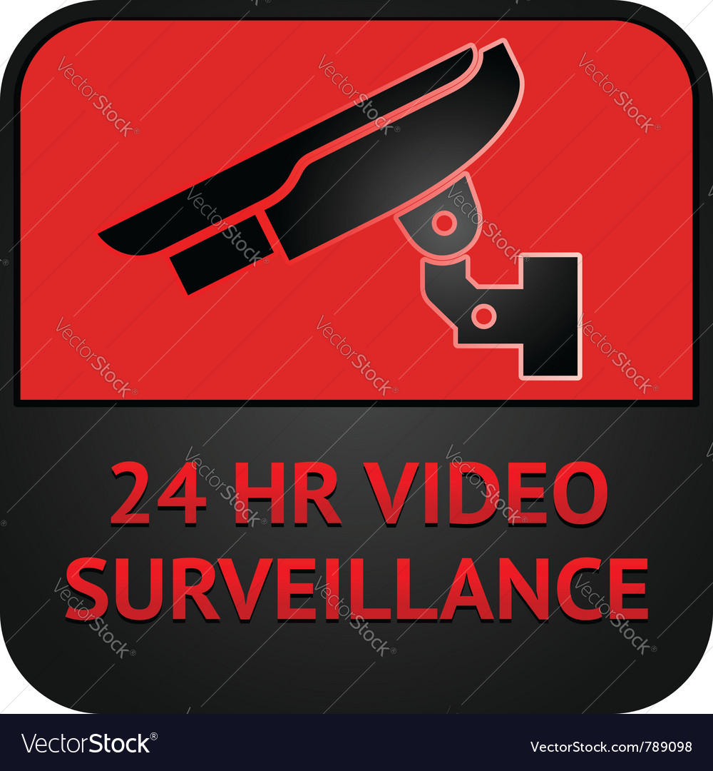 Cctv symbol surveillance pictogram vector | Price: 1 Credit (USD $1)