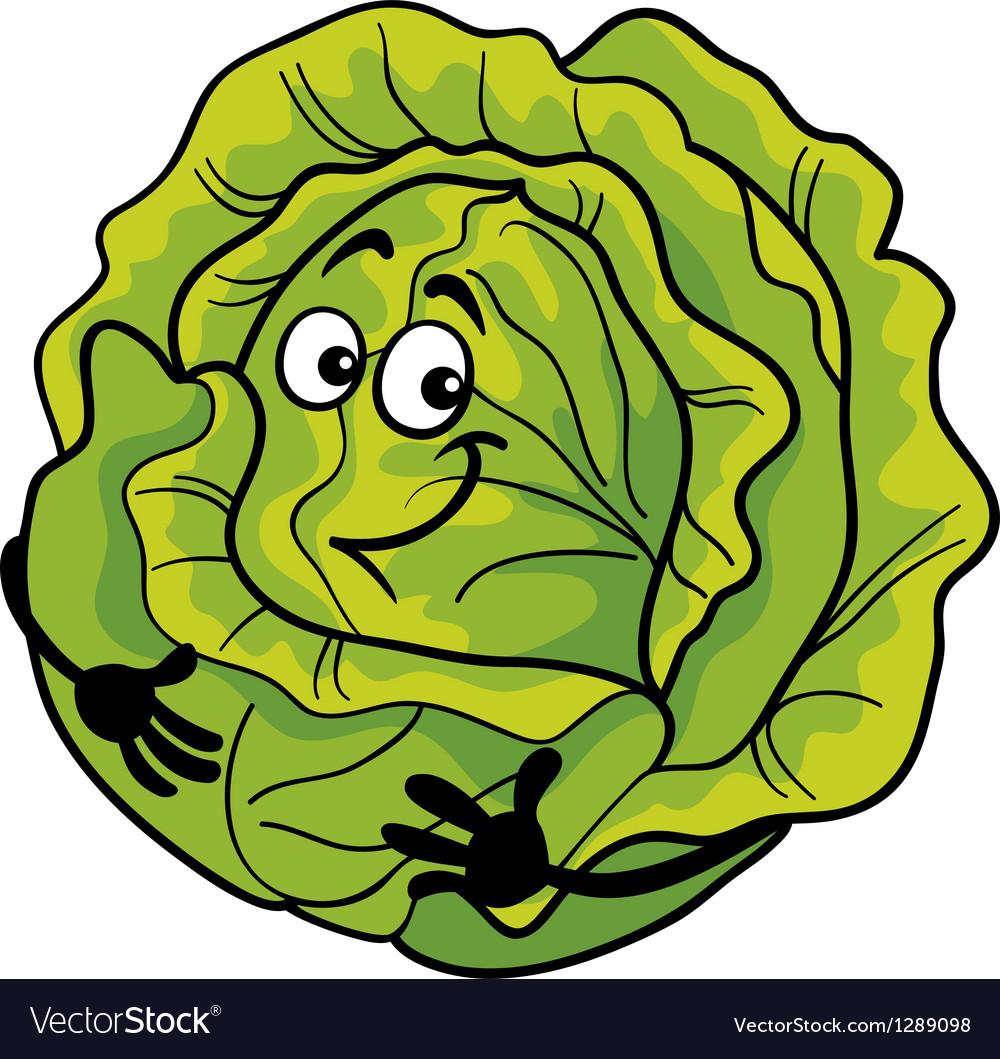 Cute cabbage vegetable cartoon vector   Price: 1 Credit (USD $1)