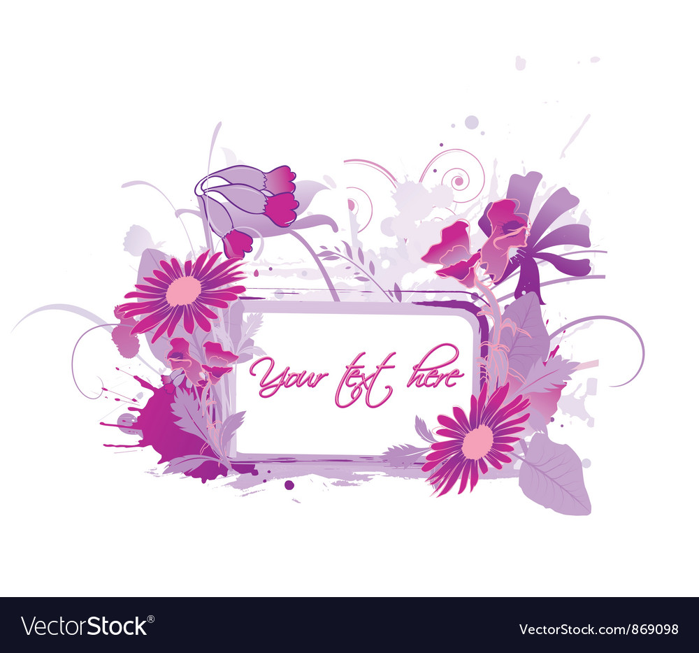 Floral frame with splash vector | Price: 1 Credit (USD $1)
