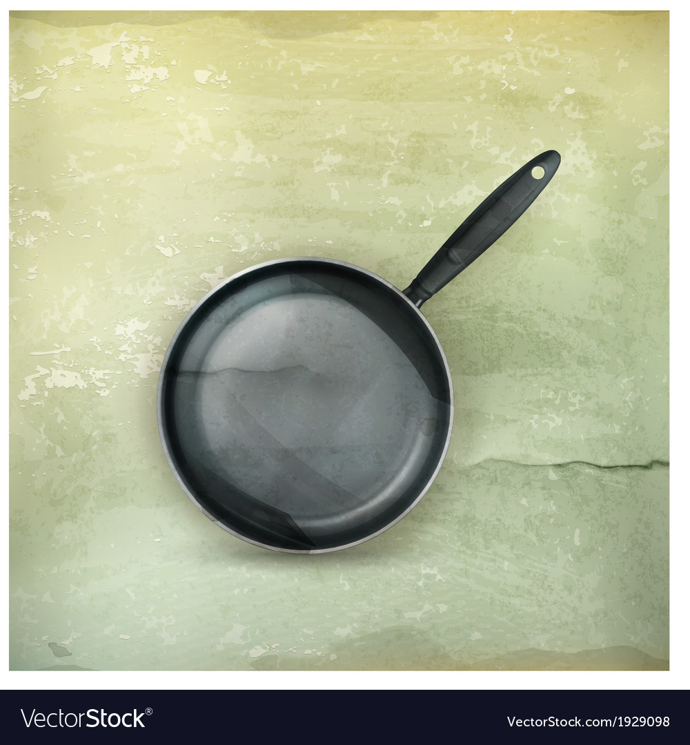 Frying pan old-style vector | Price: 1 Credit (USD $1)