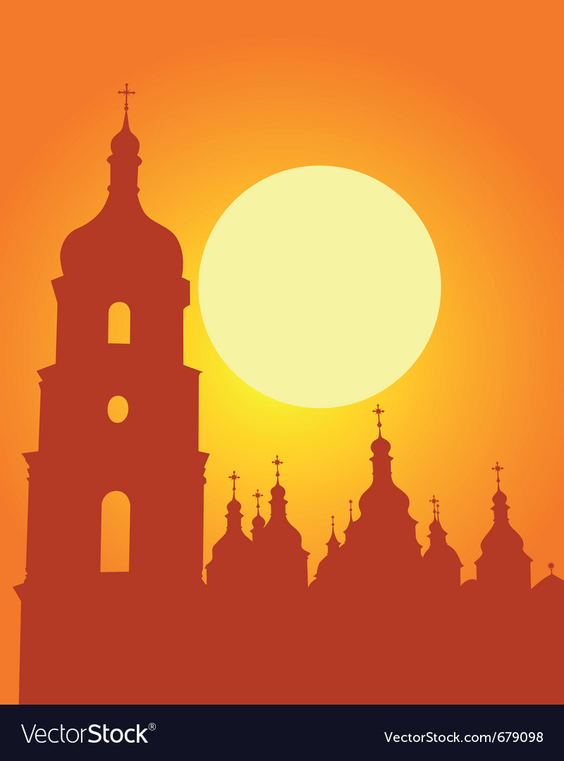 Kiev sophia cathedral silhouette vector | Price: 1 Credit (USD $1)