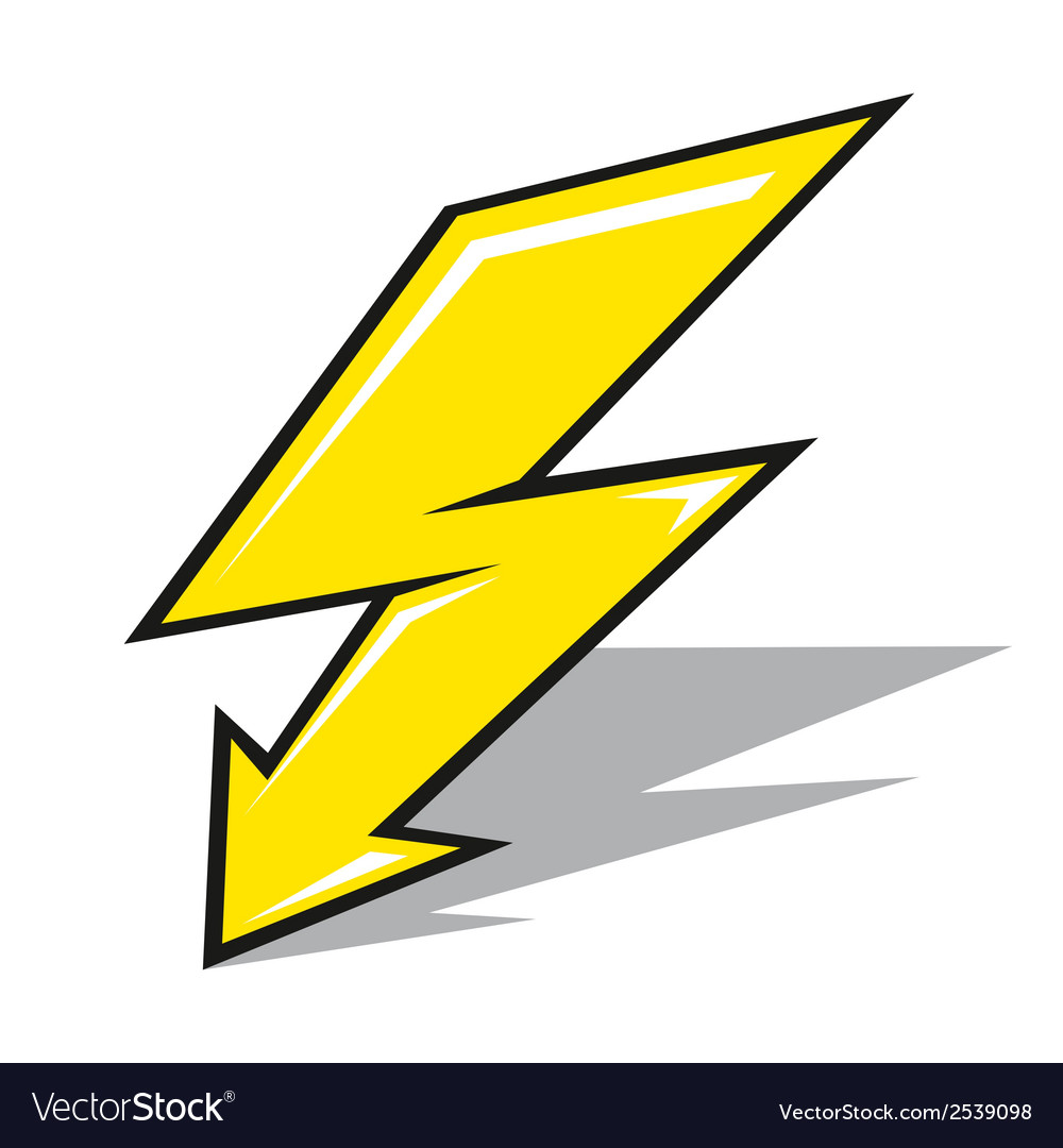 Lightning sign vector | Price: 1 Credit (USD $1)