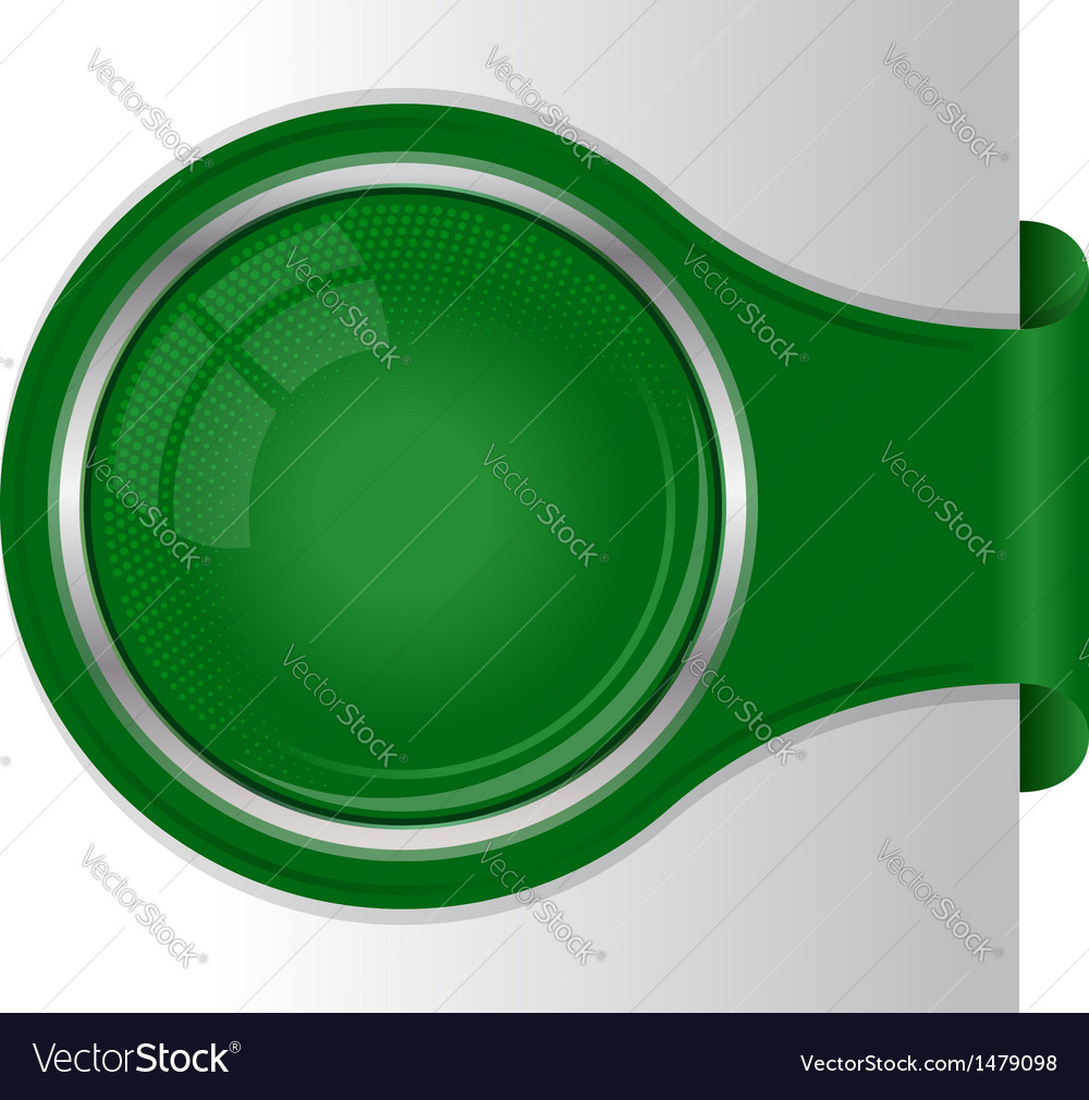 Modern green banner with circle frame vector | Price: 1 Credit (USD $1)