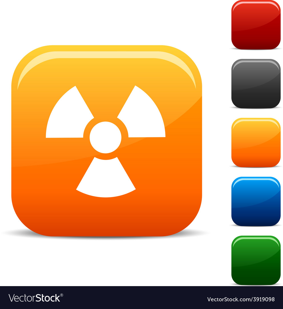 Radiation icons vector | Price: 1 Credit (USD $1)