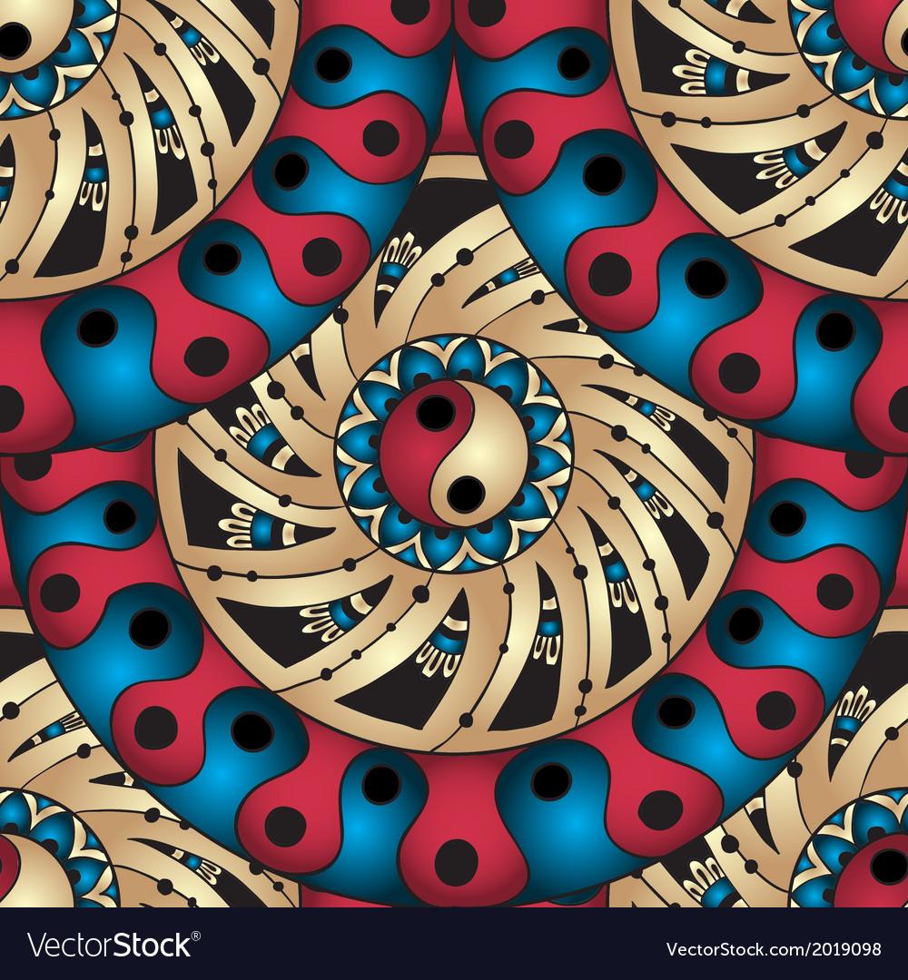 Seamless geometric pattern in fish scale design vector | Price: 1 Credit (USD $1)