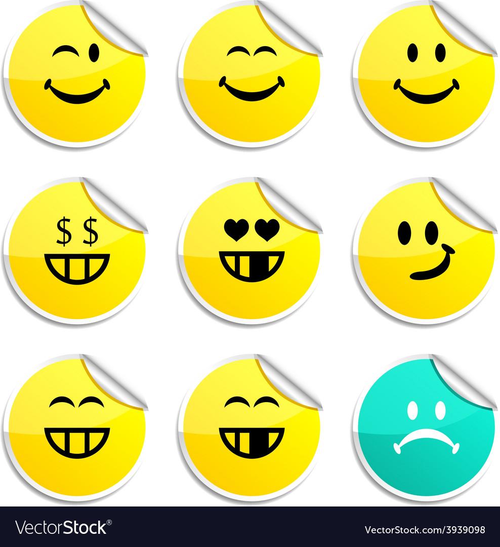 Smiley stickers vector | Price: 1 Credit (USD $1)