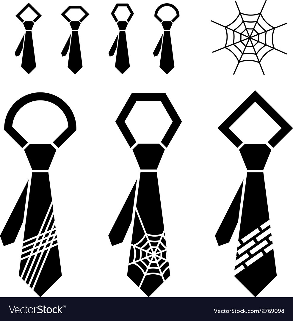 Tie black symbols vector | Price: 1 Credit (USD $1)
