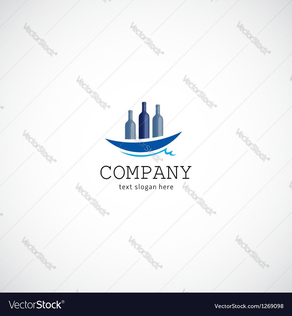 Wine ship company logo vector | Price: 1 Credit (USD $1)