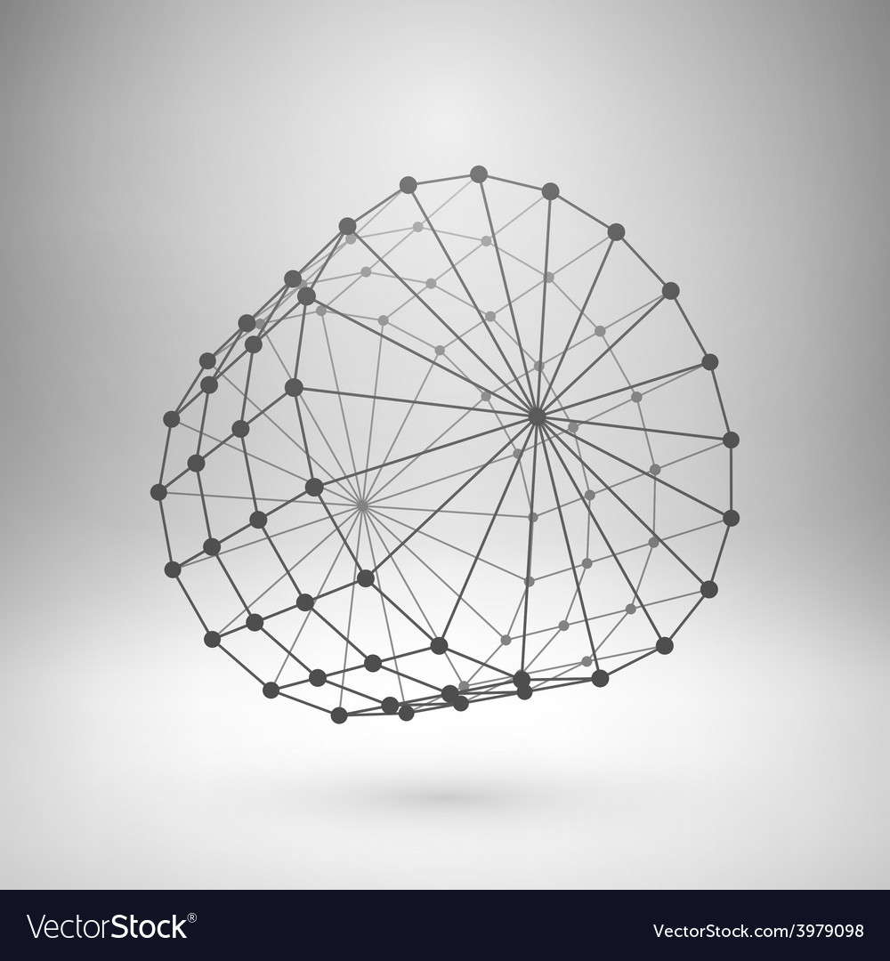 Wireframe mesh polygonal cylinder vector | Price: 1 Credit (USD $1)