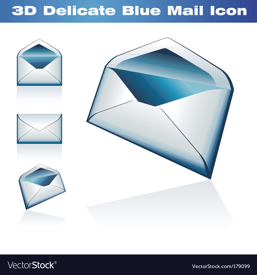 3d classic post icon vector | Price: 3 Credit (USD $3)