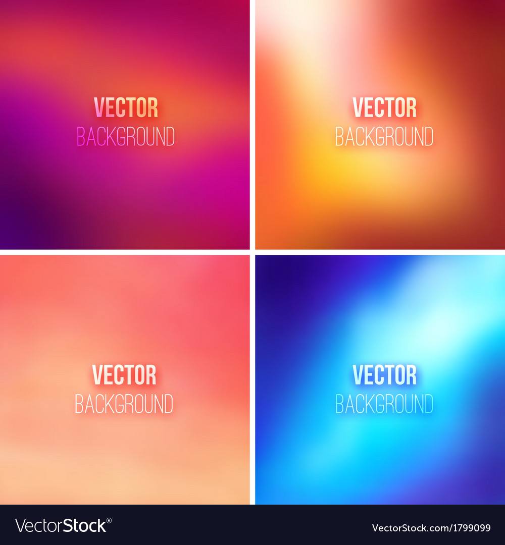 Abstract colorful blurred backgrounds set vector | Price: 1 Credit (USD $1)