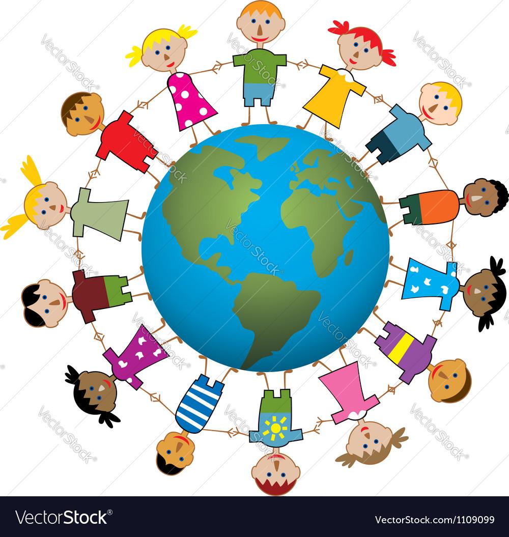 Children around the world vector | Price: 1 Credit (USD $1)