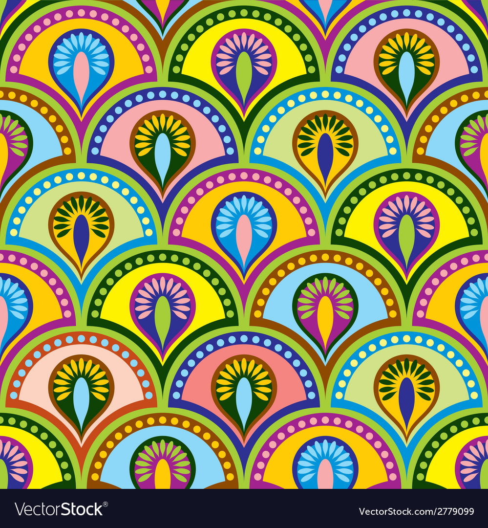 Color buddhist seamles vector | Price: 1 Credit (USD $1)