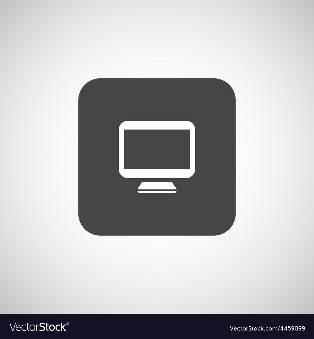 Computer display isolated icon screen monitor vector | Price: 1 Credit (USD $1)