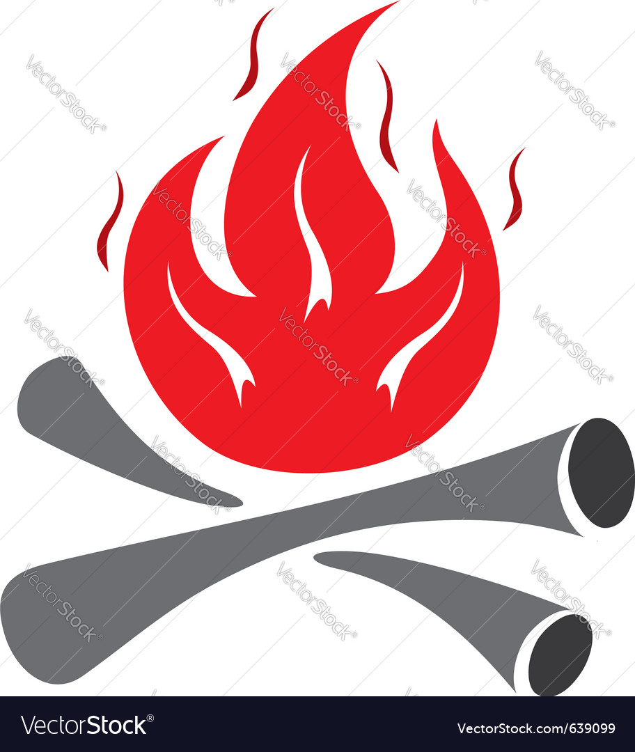 Fire symbol vector | Price: 1 Credit (USD $1)