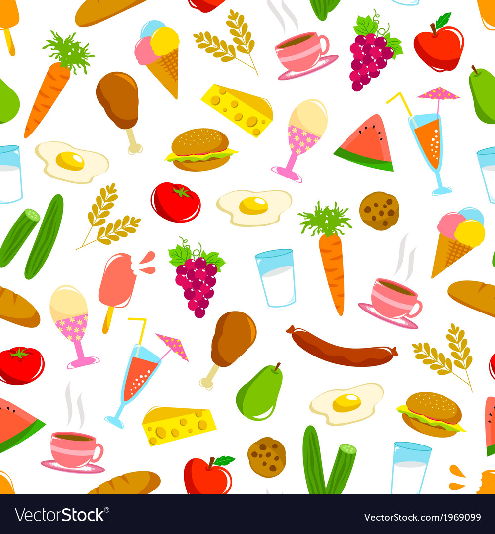 Food pattern vector | Price: 1 Credit (USD $1)