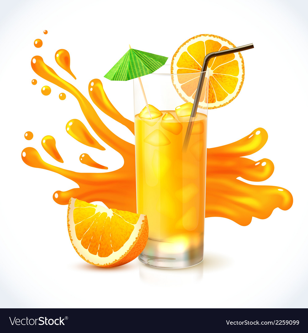 Orange juice ice vector | Price: 3 Credit (USD $3)