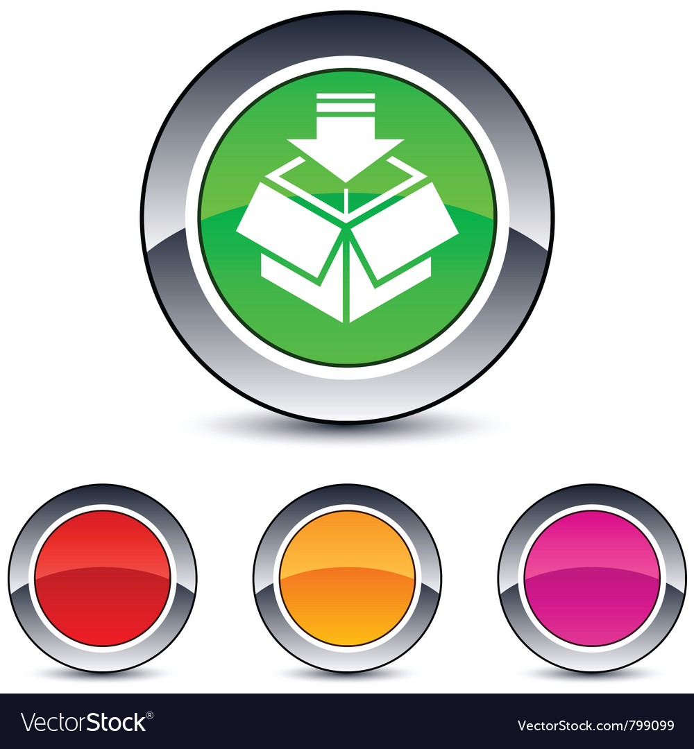 Package round button vector | Price: 1 Credit (USD $1)