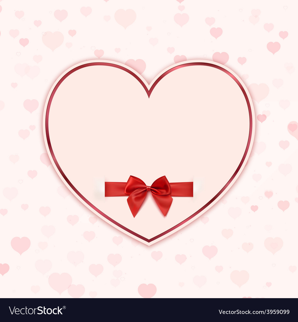 Paper heart with red ribbon and a bow vector | Price: 1 Credit (USD $1)