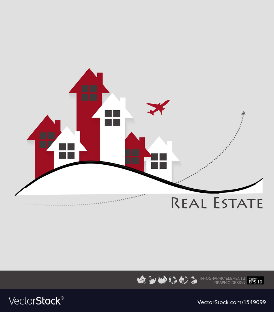 Real estate house vector | Price: 1 Credit (USD $1)