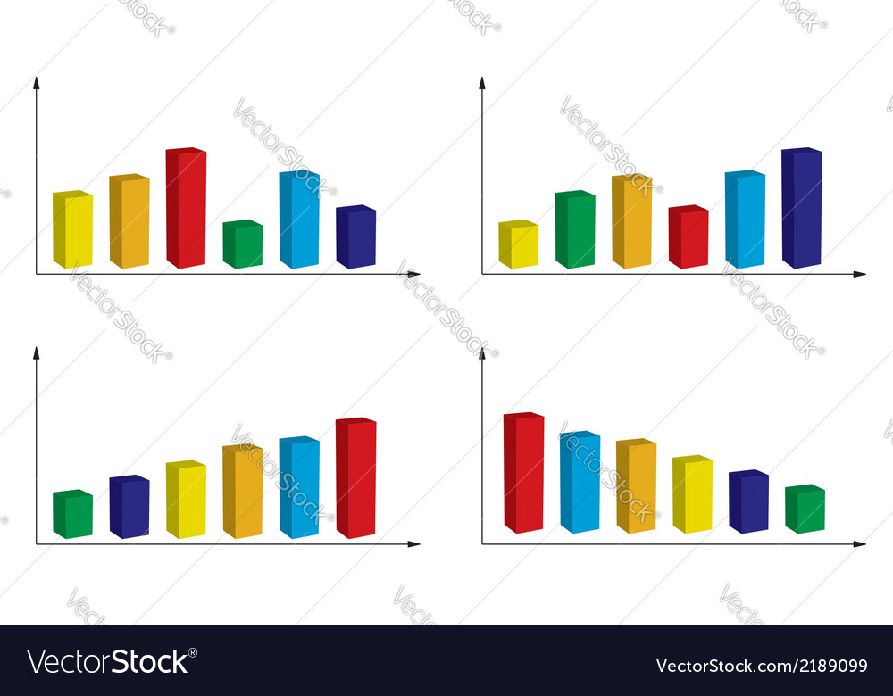 Set of color graphs vector | Price: 1 Credit (USD $1)