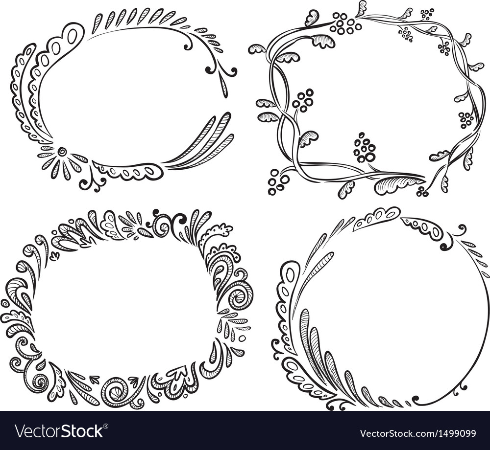 Sketchy doodle frames vector | Price: 1 Credit (USD $1)