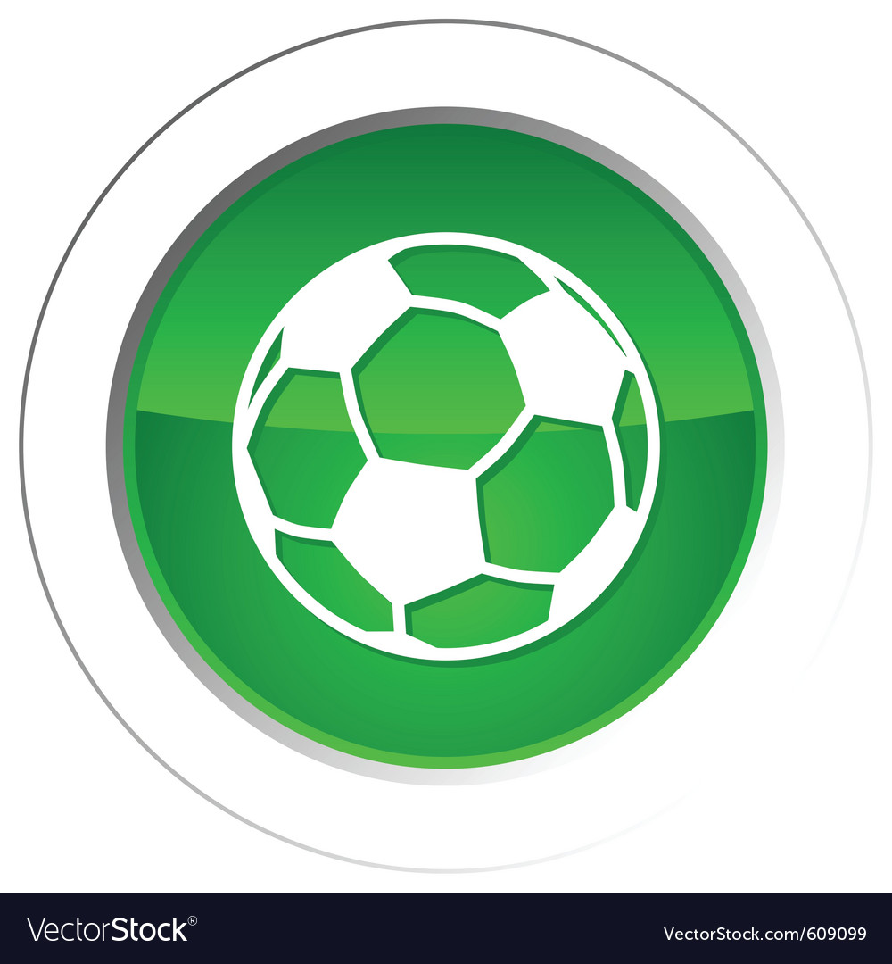 Soccer ball button vector | Price: 1 Credit (USD $1)