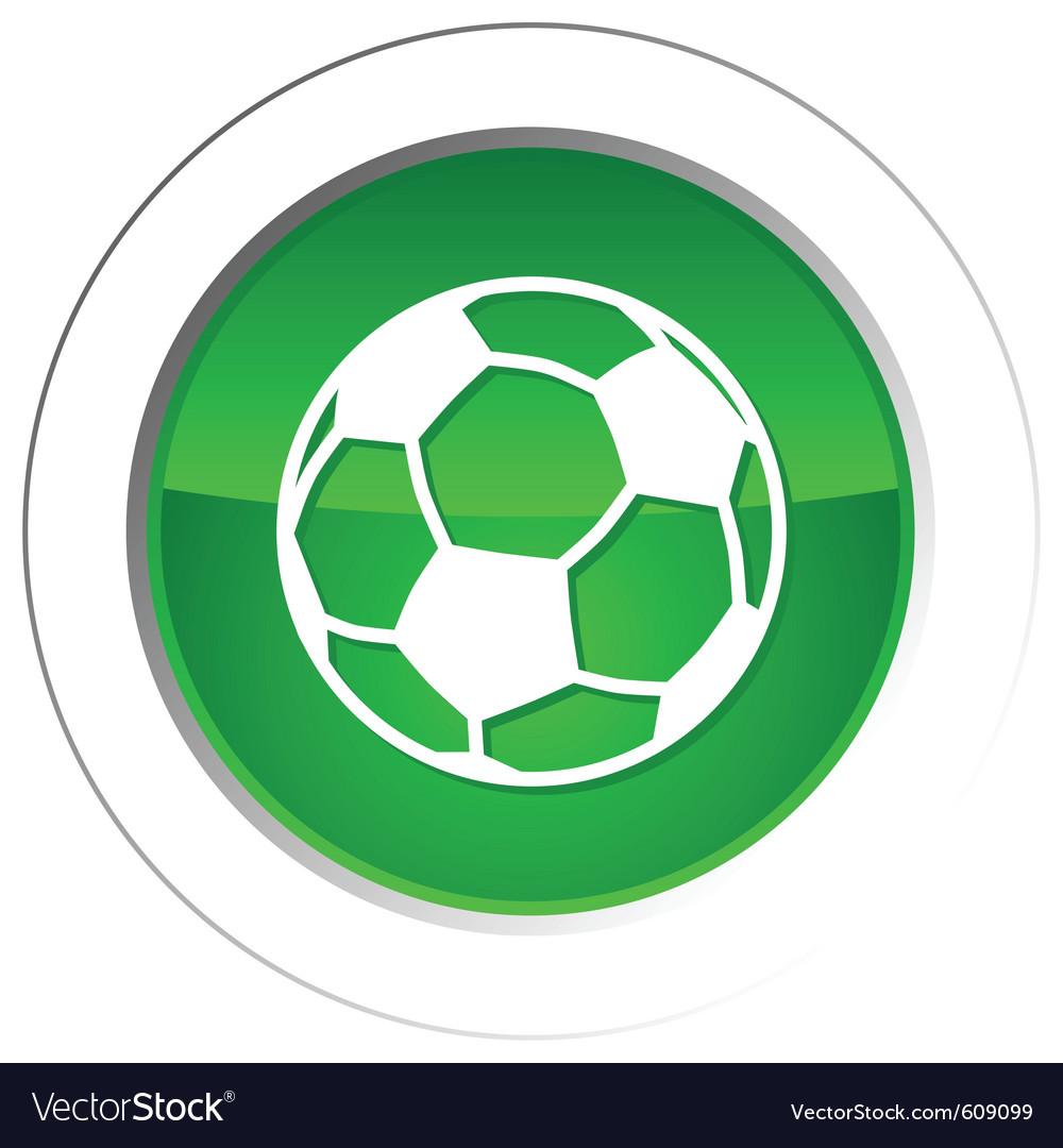 Soccer ball button vector | Price: 1 Credit (USD $1)