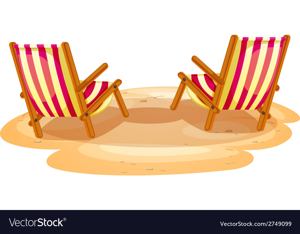 Two beach chairs vector | Price: 1 Credit (USD $1)